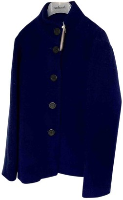 Cacharel Blue Wool Coat for Women