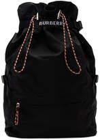 Burberry Black Drawstring Backpack