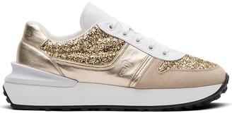 Car Shoe Glitter-Effect Metallic Sneakers