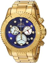 Invicta Men's 'Pro Diver' Swiss Quartz Stainless Steel Casual Watch, Color:Gold-Toned (Model: 20349)