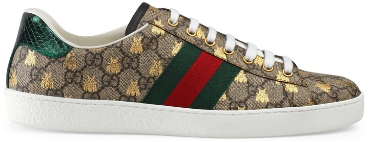 Thumbnail for your product : Gucci Men's Ace GG Supreme bees sneaker