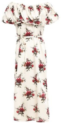 Mother of Pearl Layered Floral-print Cotton And Silk-blend Satin Midi Dress
