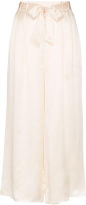 Le Kasha Tie-Waist Cropped Trousers