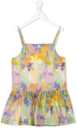 Stella McCartney Kids Abstract Floral Print Top