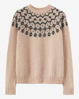 Toast Seamless Fair Isle Yoke Sweater