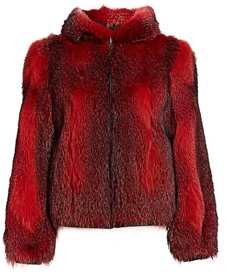 Thumbnail for your product : The Fur Salon Fox Fur Hooded Jacket