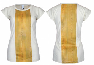 Format BASE Ecru & Wood Single Plain T-Shirt - S - White/Gold