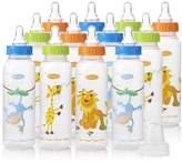 Evenflo Feeding Zoo Friends Anatomic Bottles, 8 Ounce (Pack of 12)