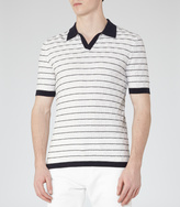 Reiss Martini TEXTURED STRIPE POLO SHIRT