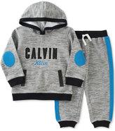 Calvin Klein Baby Boys' 2-Pc. Marled Hoodie & Pants Set