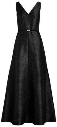 Ralph Lauren Jacquard A-Line Evening Dress