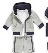 HUGO BOSS Newborns' tracksuit shorts in stretch cotton with a drawstring waistband: `J04257`