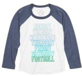 Chaser Boy's Sunday Football Long Sleeve Raglan T-Shirt