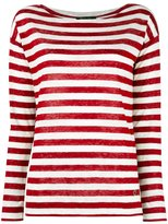 Loro Piana striped jumper - women - Linen/Flax - 46