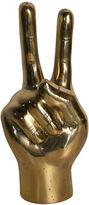 Noir 9 Peace Sign, Gold