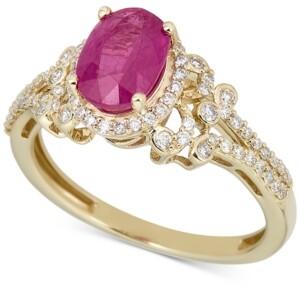 Macy's Ruby (1-1/4 ct. t.w.) & Diamond (1/3 ct. t.w.) Ring in 14k Gold