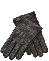 Jil Sander Men's Leather Ribbed Front Gloves