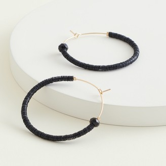Elizabeth and James Beaded Hoop Earrings