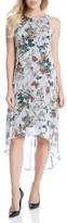 Karen Kane Women's Butterfly Print High/low Dress