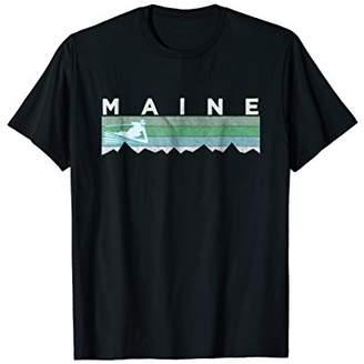 Retro Maine Distressed Skiing T-Shirt