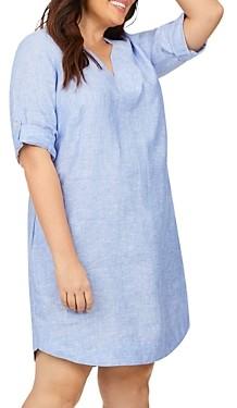 Foxcroft Plus Harmony Non-Iron Linen Dress