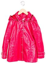 Little Marc Jacobs Girls' Coated Hooded Coat