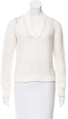 Malo Shawl Collar Cashmere-Blend Sweater