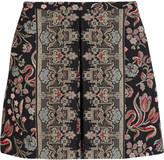 Valentino Cotton-blend tapestry mini skirt