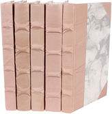 One Kings Lane S/5 Parchment Collection Books, Blush