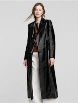 Calvin Klein Collection Hair Calf + Leather Coat