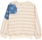 Bellerose Milk Lurex Flag Sweatshirt