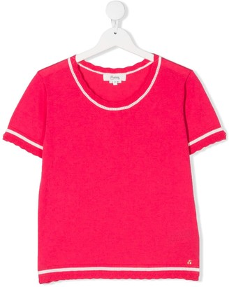 Bonpoint TEEN lace trim knitted top