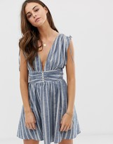 Free People Roll The Dice striped dress