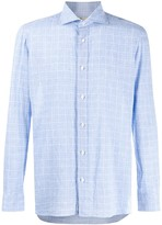 Borrelli long sleeve checked shirt