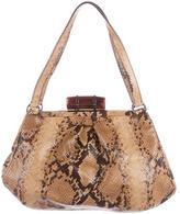 Miu Miu Snakeskin Frame Shoulder Bag