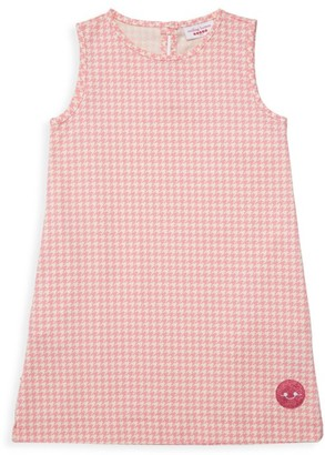 Smiling Button Girl's Houndstooth Tunic