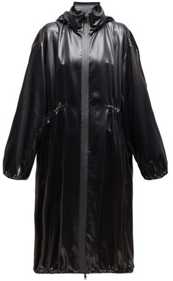 Bottega Veneta Balloon Sleeve Hooded Leather Coat - Womens - Black
