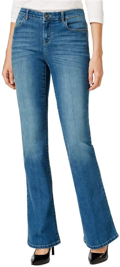 Style&Co. Style & Co. Womens Low Rise Rayon Denim Flare Jeans Blue 12