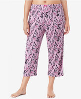 Ellen Tracy Plus Size Printed Knit Cropped Pajama Pants