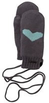Barts Grey Sweet Heart Mittens