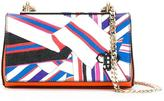 Emilio Pucci scarf print crossbody bag - women - Leather/metal - One Size