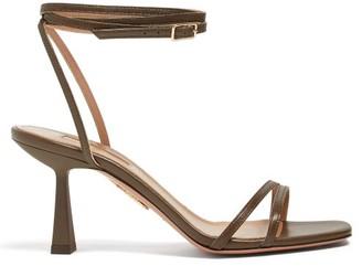 Aquazzura Isabel 75 Leather Sandals - Womens - Khaki
