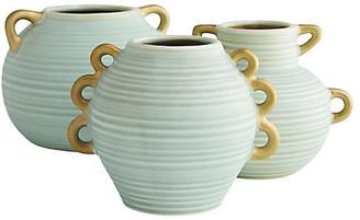 Arteriors Set of 3 Aurora Vases - Green
