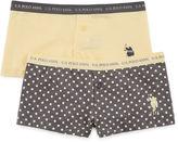 U.S. Polo Assn. 2 Pair Boyshort Panty-Big Kid Girls