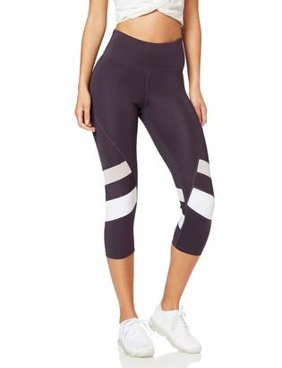 Aurique Amazon Brand Women's Capri Panelled Sports Leggings