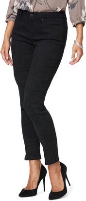 NYDJ Alina Split Hem Faux Suede Ankle Skinny Jeans