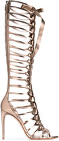 Casadei knee-length strappy sandals - women - Leather - 35