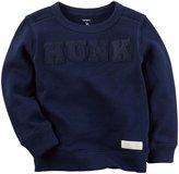 Carter's Hunk Print Sweater - Navy - 3T