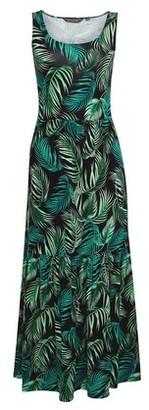 Dorothy Perkins Womens Black Tropical Print Sleeveless Midi Dress, Black