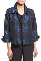 Caroline Rose Night Blooms Jacquard Gala Jacket, Sapphire/Black